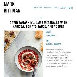 David Tamarkin's Lamb Meatballs with Harissa, Tomato Sauce, and Yogurt