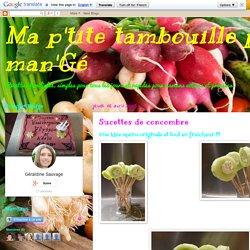 Sucettes de concombre