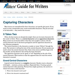 Guide for Writers: Characters