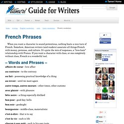Guide for Writers: French Phrases