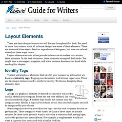 Guide for Writers: Layout Elements