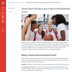 Tamica Goree Tells Becoming a High School Basketball Coach: Home: Tamica Goree