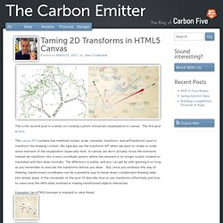 Taming 2D Transforms in HTML5 Canvas