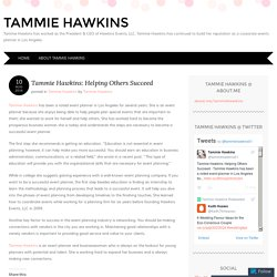 //Tammie Hawkins\\ Helping Others Succeed