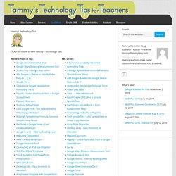 Tammy's Technology Tips