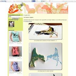 Les tampons cigogne - Belette Print, Linogravure