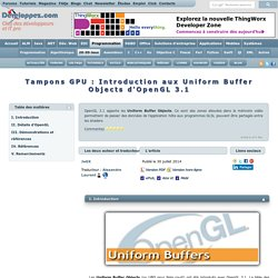 Tampons GPU: Introduction aux Uniform Buffer Objects d'OpenGL 3.1