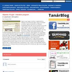 Tanárblog - Gépelés 10 ujjal - interaktív program
