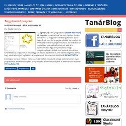Tanárblog - Tárgytervező program