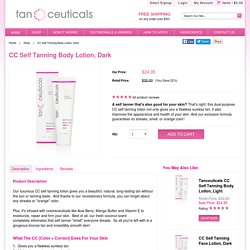 CC Self Tanning Body Lotion, Dark