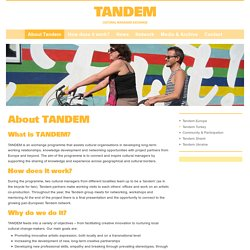 TANDEM: About Tandem