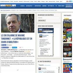 Le cri d'alarme de Maxime Tandonnet : « La République est en cours d'abolition »