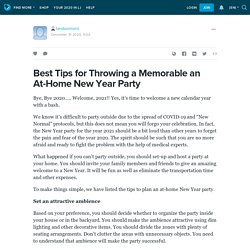 Best Tips for Throwing a Memorable an At-Home New Year Party: tandoormorni — LiveJournal