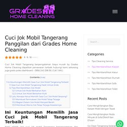 Cuci Jok Mobil Tangerang Panggilan dari Grades Home Cleaning