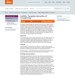 CAMEL Tangible Benefits of e-Learning