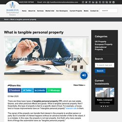 What is tangible personal property