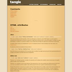 Tangle: API Reference