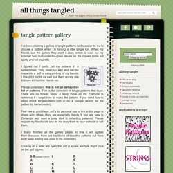 tangle pattern gallery