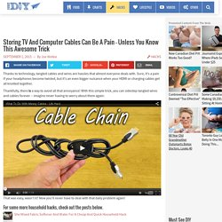 Never Deal With Tangled Cables And Wires Again With This Simple Solution