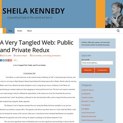 A Very Tangled Web: Public and Private Redux « Sheila Kennedy