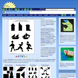 Tangram Puzzle Sheets and Solutions - Tangram Puzzles