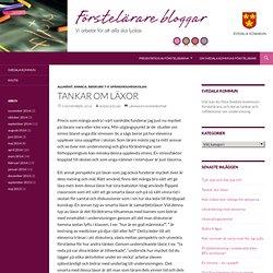 Tankar om läxor - Förstelärare i Svedala