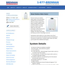 Rinnai Tankless Water Heater, Installation, Seattle WA