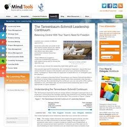 3.6 The Tannenbaum-Schmidt Leadership Continuum