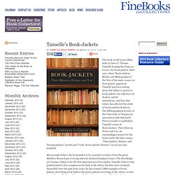 Tanselle's Book-Jackets - The Fine Books Blog