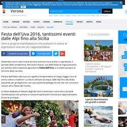 Festa dell'Uva 2016, tantissimi eventi dalle Alpi fino alla Sicilia