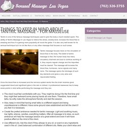 Tantric Masseuse - Things to Keep in Mind