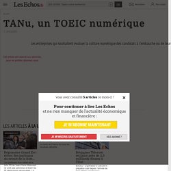 TANu, un TOEIC numérique