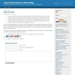 Tanya Khovanova's Math Blog » Blog Archive » Who Is Left?