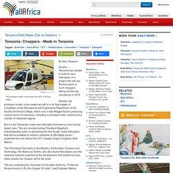 Tanzania: Choppers - Made in Tanzania