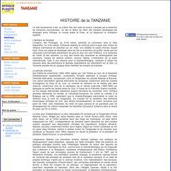 TANZANIE - Histoire