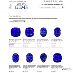 Shop Loose Tanzanite Gems 0 to 5 carats - GEM Grade Tanzanites for SALE