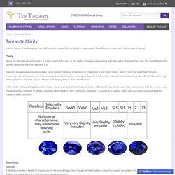Tanzanite Crystal, Quality, Tanzanite Clarity