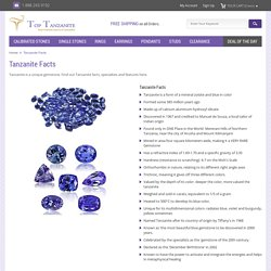 Interesting Facts About Tanzanite