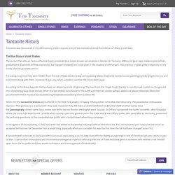 Tanzanite History, Story OF Tanzanite Stone