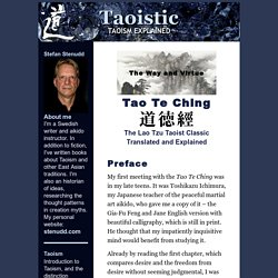 Tao Te Ching by Lao Tzu - translated and explained by Stefan Stenudd