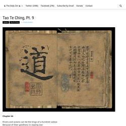 Tao Te Ching, Pt. 9