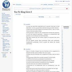Tao Te King/Livre I