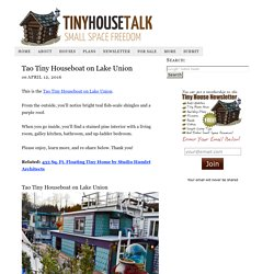 Tao Tiny Houseboat on Lake Union