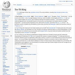 Tao Tö King