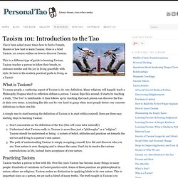 Taoism 101: Introduction to the Tao