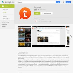 Tapatalk Forum App - Apps on Android Market