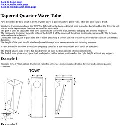 Tapered Quarter Wave Tube