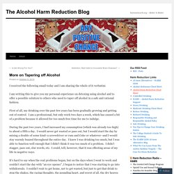 The Alcohol Harm Reduction Blog