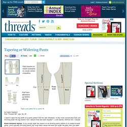 Tapering Or Widening Pants Pattern