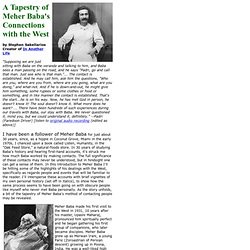 A Tapestry of Meher Baba's Connections with the West